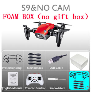 Mini Drone With Camera S9 No Camera Foldable RC Helicopter Altitude - Douhal