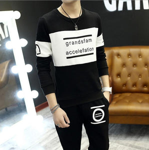 men's Sportswear tracksuit jersey clothing set print sportswear Suit male 2 PSC Sets - Douhal