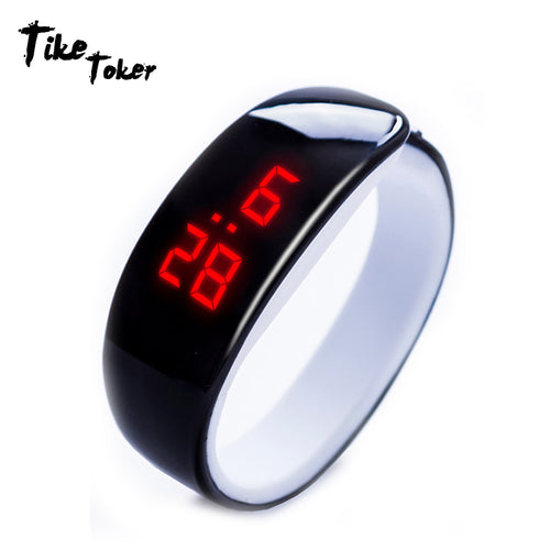 Bracelet Watch Waterproof Candy Color Digital Sport Clock 2018 New Hot Sale - Douhal
