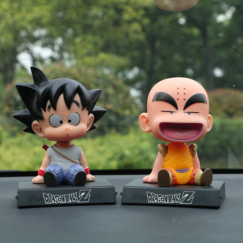 Dragon Ball Z Goku Kuririn Car Decoration Shaking Head Doll Phone - Douhal