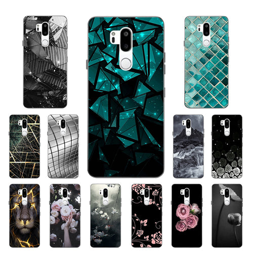 6.1 inch for LG G7 Soft Slim TPU Phone, Triangle Printing Coque - Douhal
