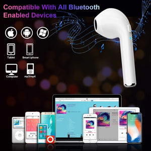 i7s tws i9 earphone with mic Double earpiece for phone 8 Samsung xiaomi - Douhal