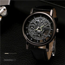 Load image into Gallery viewer, Watch Gentlemen Leather Mechanical Wristwatch Quartz Male Clock - Douhal