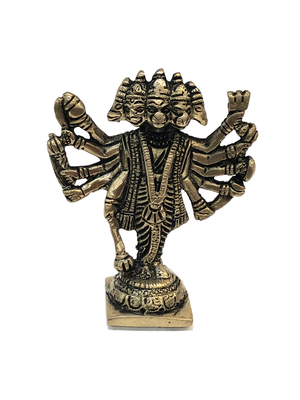 Brass Five Headed Hanuman