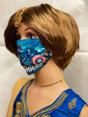 Children's Avengers Digital Printed Unisex Cloth Face Masks