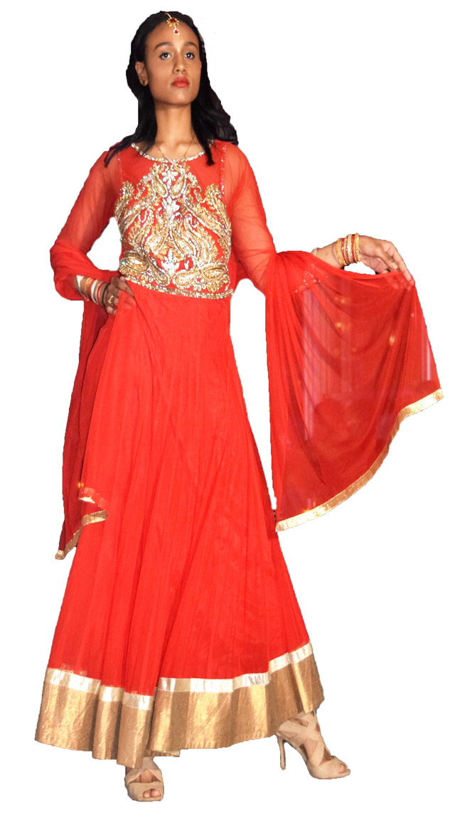 Formal Red Golden work Anarkali