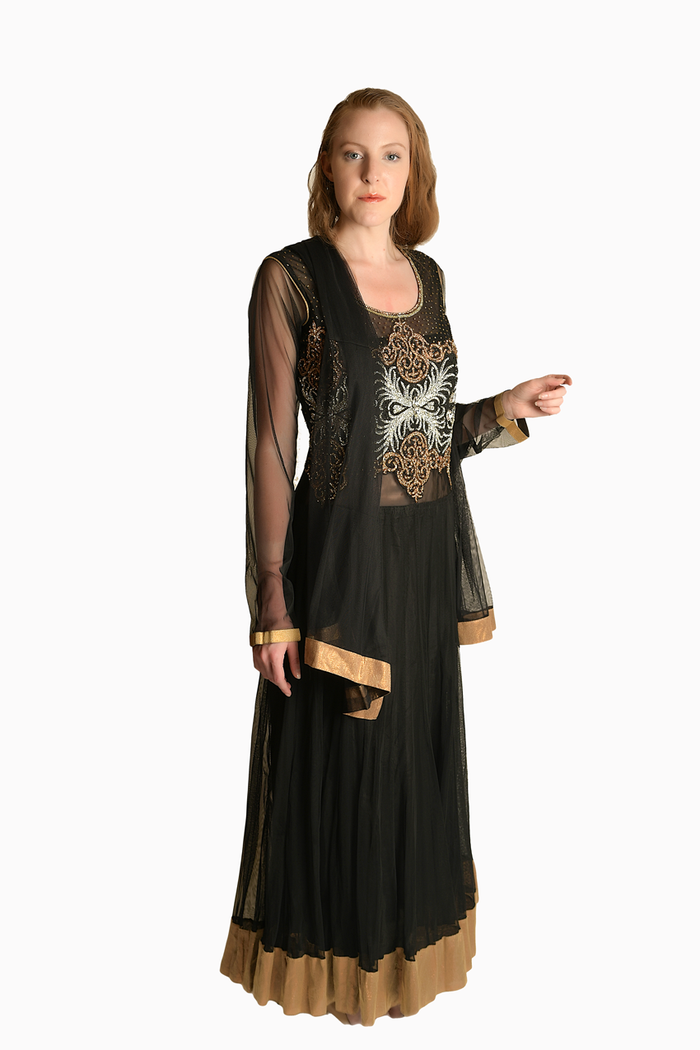 Black and Gold Anarkali