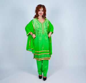 Mint Green Embroidered Salwar Kameez