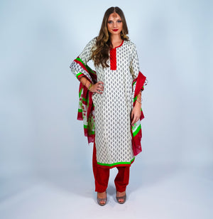 Block Print Cotton Salwar Kameez