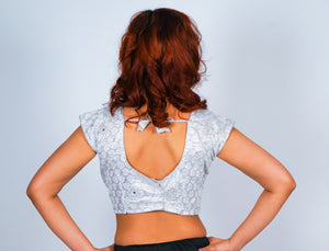 Silver Silk Crop Top