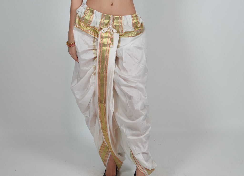 Silk Off White Dhoti Pants
