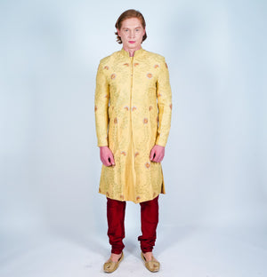 Silk Tuscan Sun Embroidered Sherwani