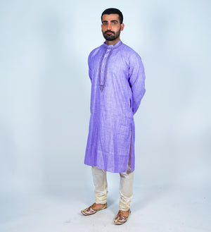 Cotton Purple Men's Kurta