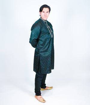 Black Silk Men's Kurta