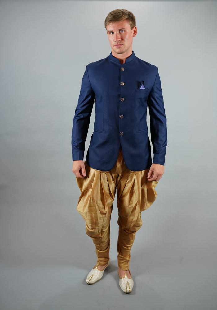 Silk Navy Blue Modi Jacket