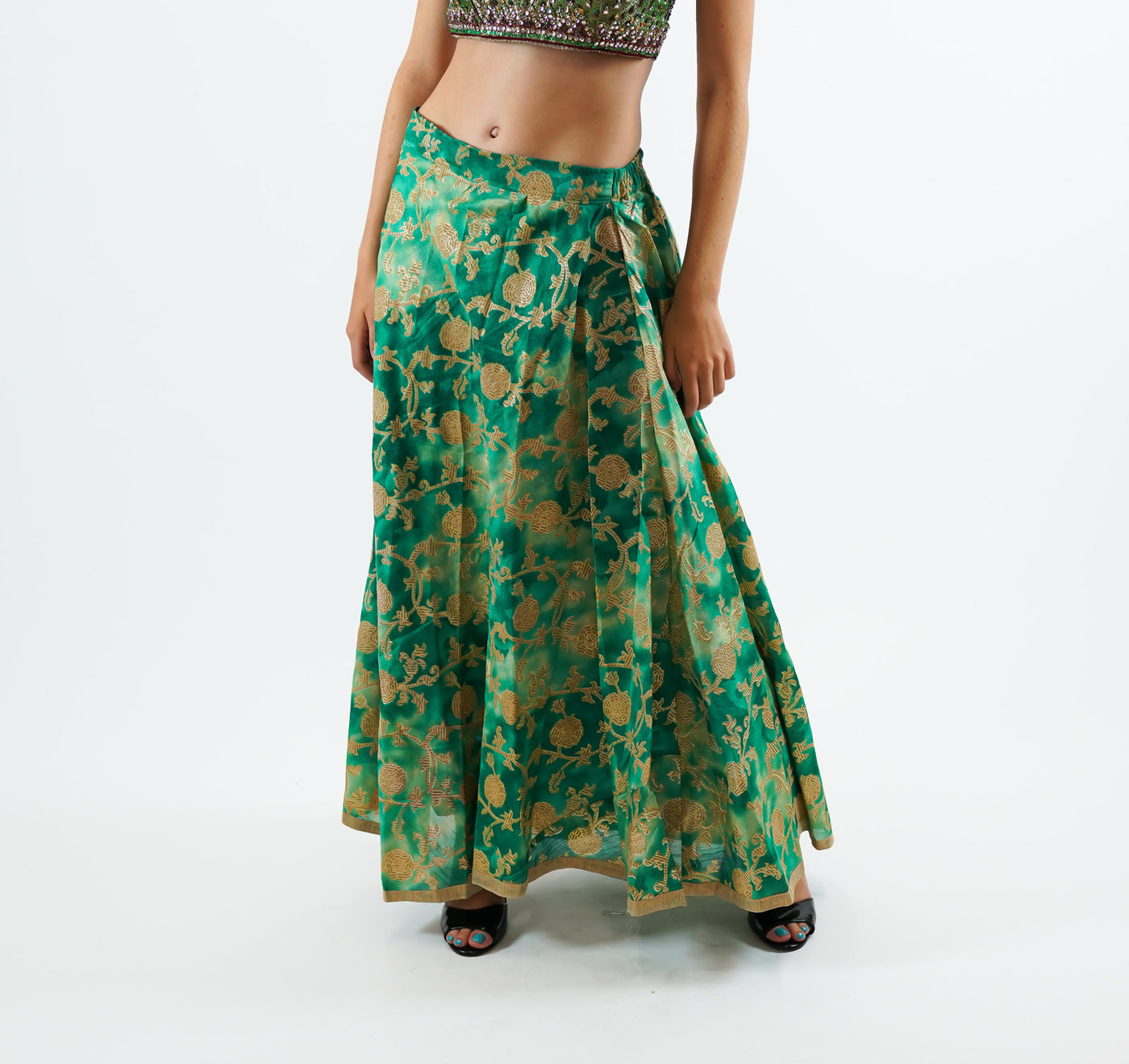 Green and Gold Skirt