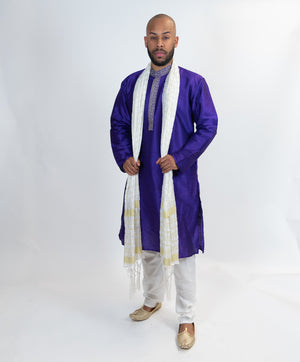 Purple Silk Formal Kurta