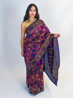 Embroidered Printed Saree