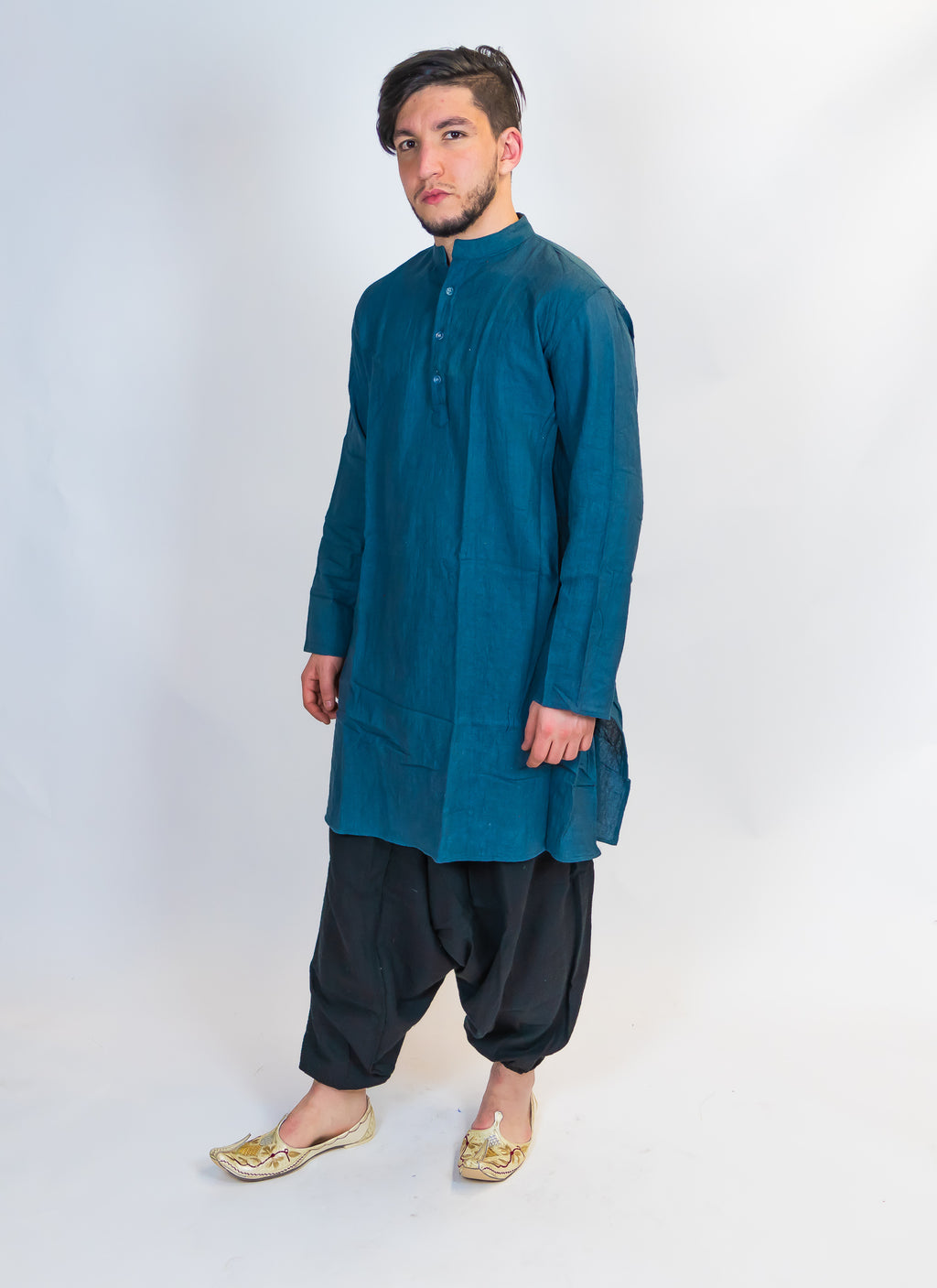 Organic Cotton Blue Kurta