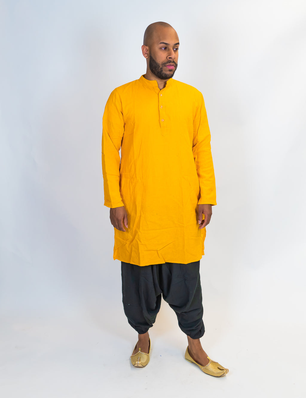 Organic Cotton Yellow Kurta