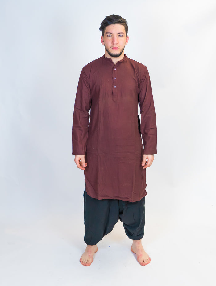 Organic Cotton Brown Kurta