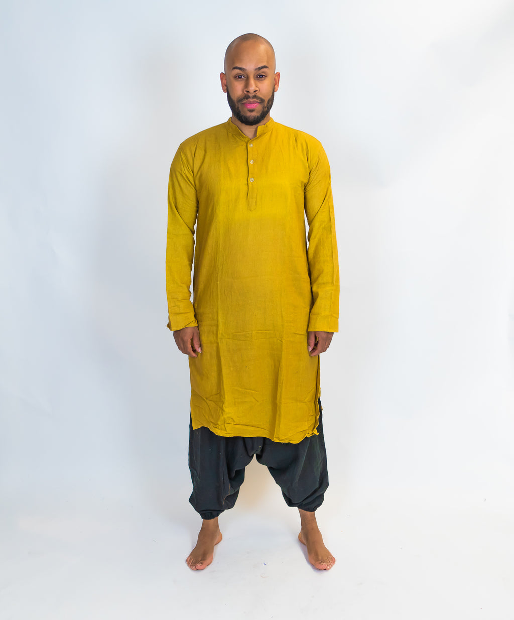 Organic Cotton Mustard Yellow Kurta