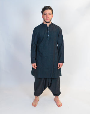 Organic Cotton Black Kurta