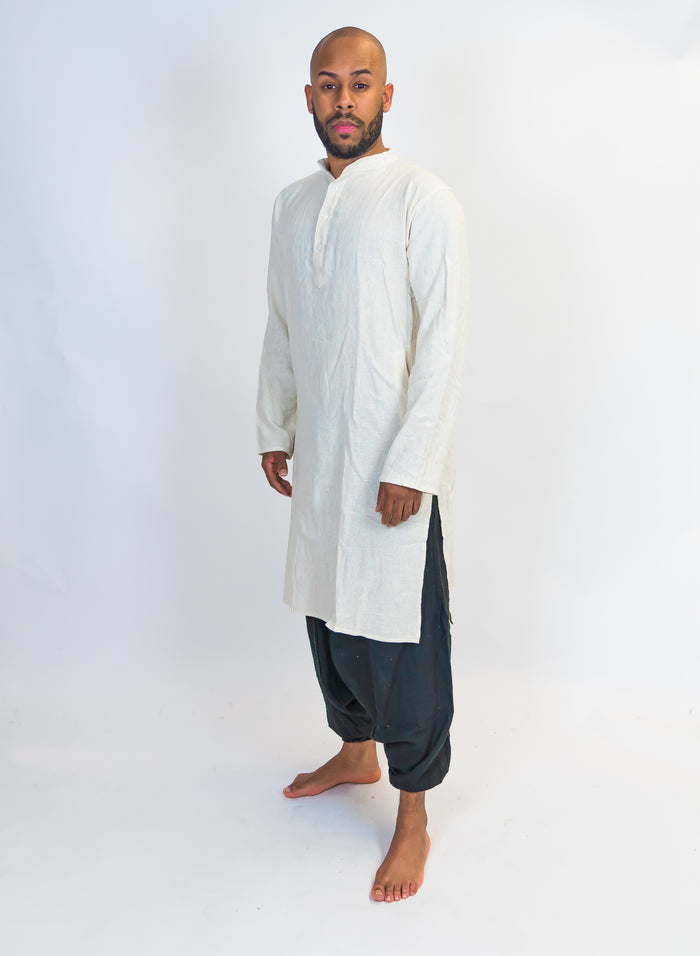 Organic Cotton White Kurta