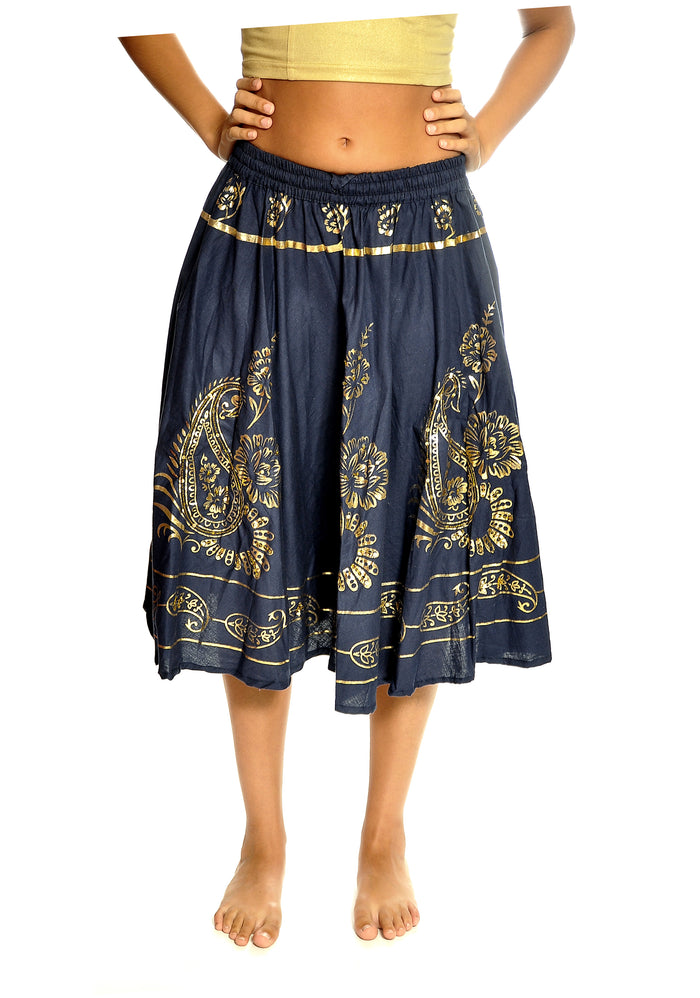 Navy and Gold Skirt