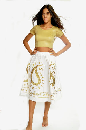 Pearl and Gold Skirt