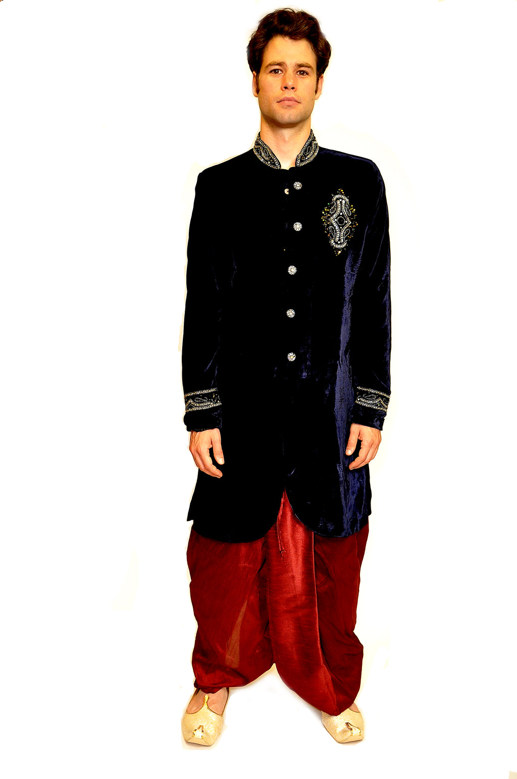 Formal Velvet Blue Sherwani