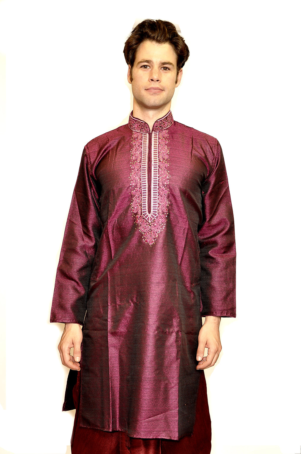 Formal Silk Purple Kurta