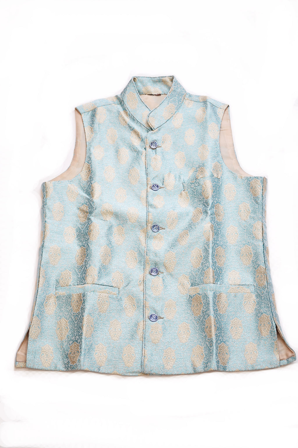 Baby Blue and Ivory Vest