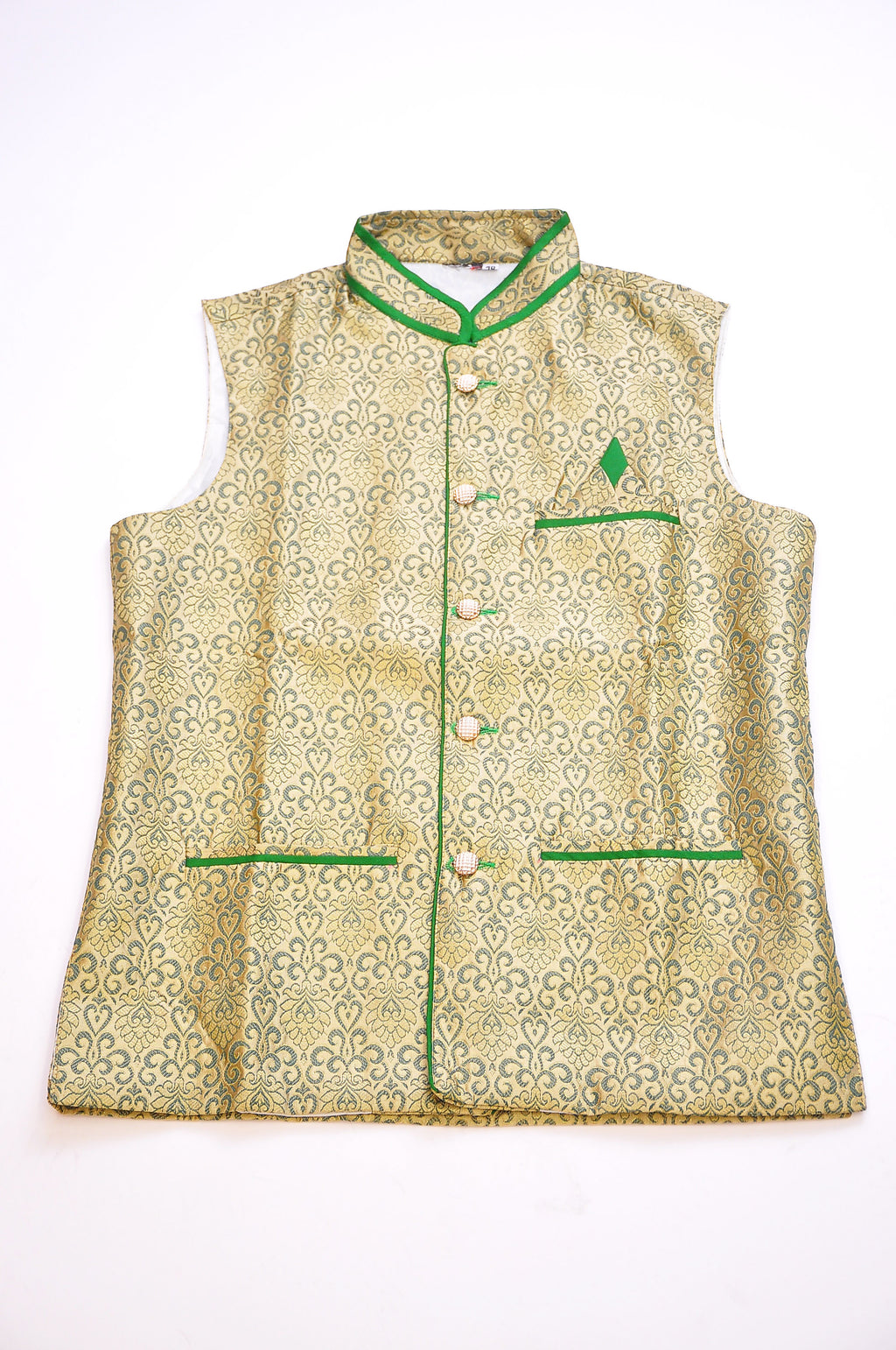 Green and Ivory Vest
