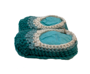 Crochet Tri Color Baby Booties