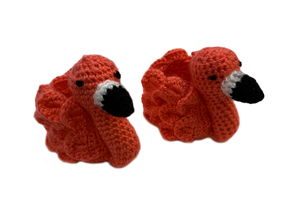 Crochet Flamingo Feet Baby Booties