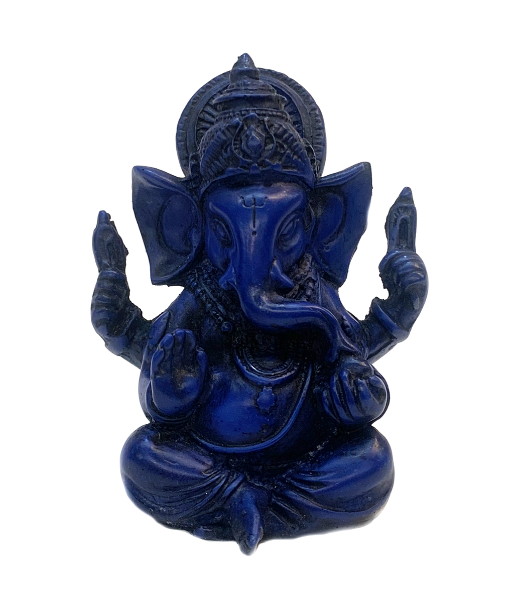 Handmade Royal Blue Raisin Ganesha Statue