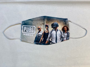 Children's Unisex PUBG Mobile Characters Digital Printed Cloth Face Masks