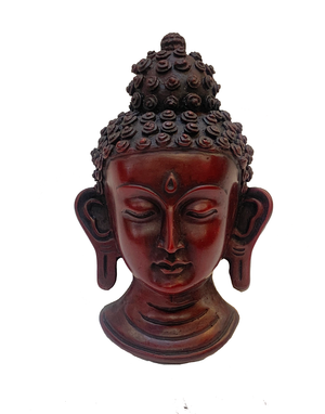 Garnet Red Raisin Buddha Mask
