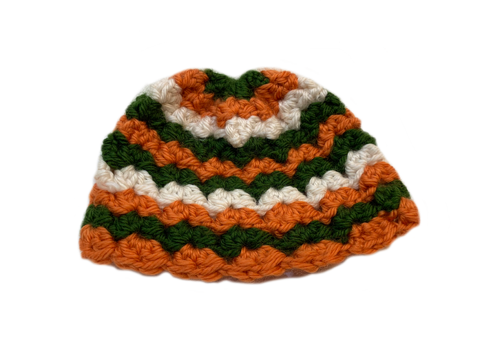Handmade Crochet Tri Color Baby Hat