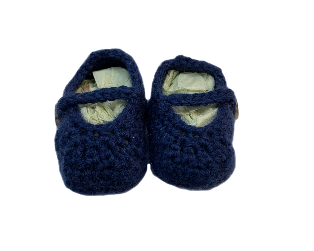 Crochet Blue Baby Booties