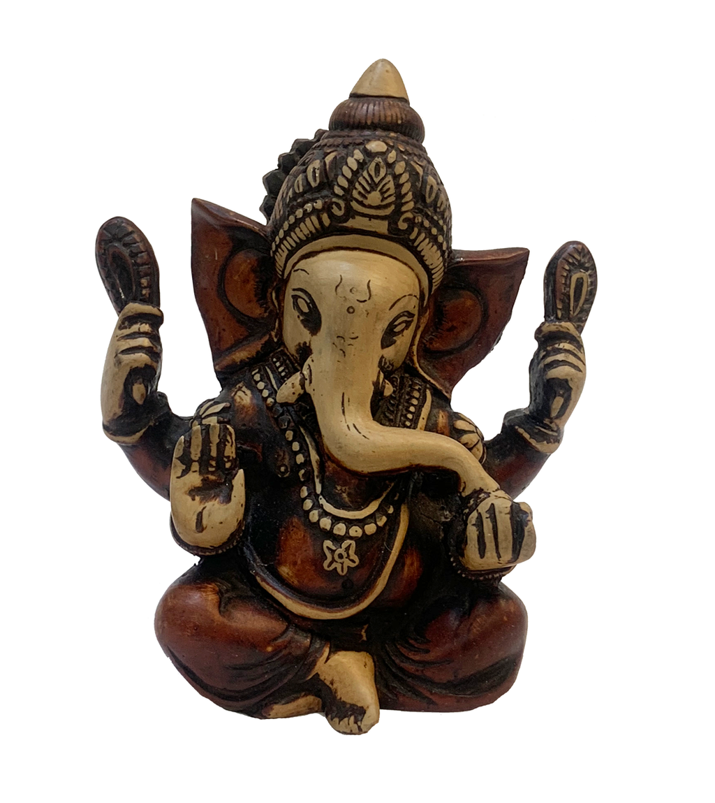Maroon With Beige Raisin Ganesha Statue