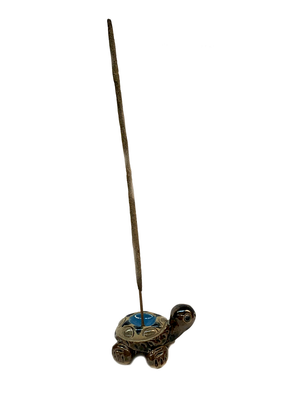 Ceramic Polka Dot Turtle Incense Holder