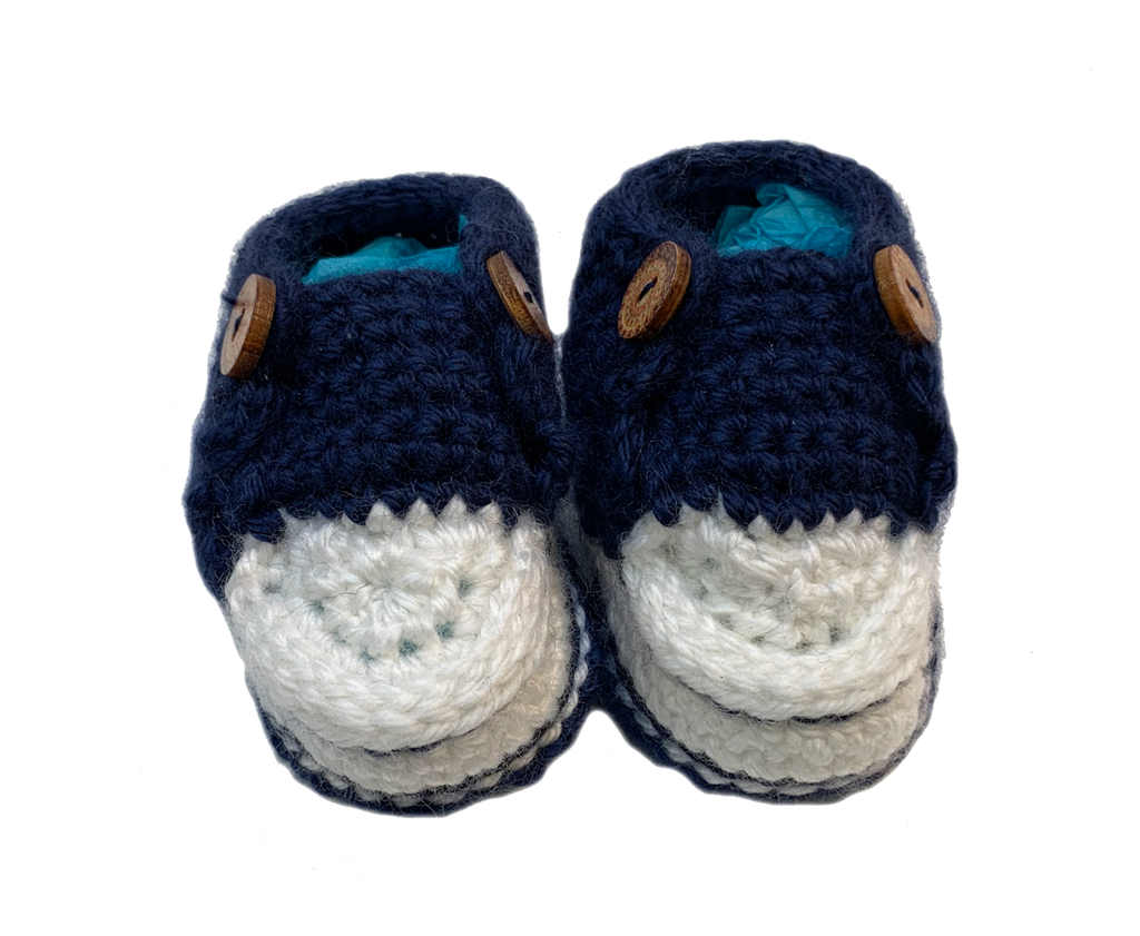 Handmade Crochet Converse Style Baby Booties