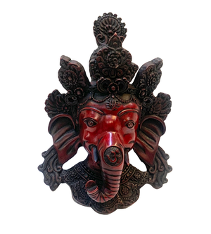 Garnet Red Ganesha Raisin Mask