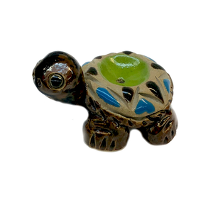 Ceramic Pooka Dot Turtle Incense Holder