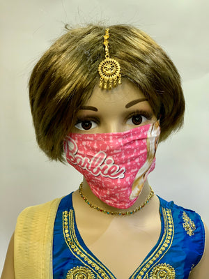Kids Barbie Digital Printed Cloth Face Masks