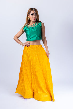 Silk Cyber Yellow Lehenga Skirt