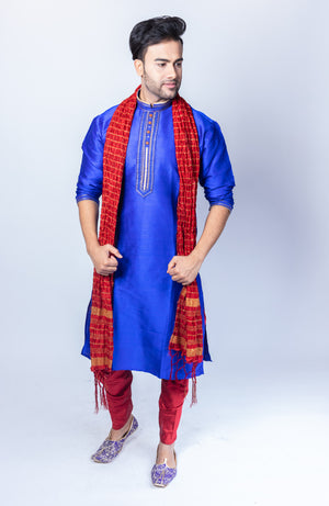 Silk Egyptian Blue Men's Kurta