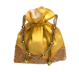 Gold Fancy Potli Bag